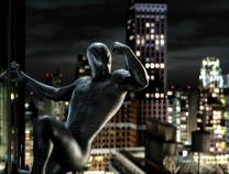 중국도 스파이더맨 '거미줄'에 '대롱대롱'