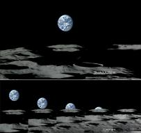 HDTV로 달에서 찍은 지구 세계 첫 공개