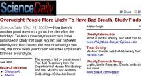 '살찔수록 입냄새도 심하다' 연구결과 발표