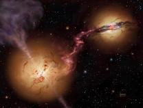 120억 광년 떨어진 두 은하 '블랙홀' 합쳐질까