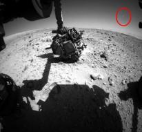 화성탐사로봇 큐리오시티, UFO추정물체 포착