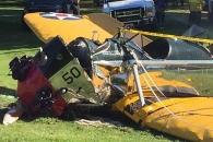 [긴급] 해리슨 포드 ,비행기 추락사고로 위중…현장사진 공개