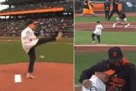 '양팔없는' MLB 시구자 윌리스 '장애'를 던지다