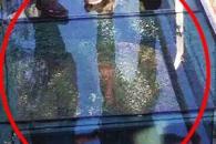 中 180m '공중 유리다리' 개장 10여일만에 금가...대피