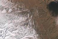 [지구를 보다] 우주에서 본, 눈 내린 사하라 사막