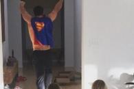 '슈퍼맨 되고 싶은 토르'…영웅열전 펼친 아빠와 쌍둥이