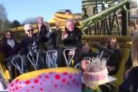 세계 최고령 롤러코스터 탑승…105세 할아버지가 한 말은?