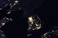 [지구를 보다] 우주에서 본 빛나는 남한, 어둠의 북한