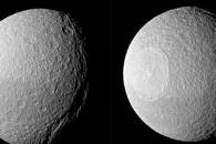 [우주를 보다] '칼자국과 멍자국' 선명한 토성 위성 테티스