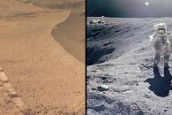 [우주를 보다] 달과 화성에 새겨진 인류와 로봇의 발자국