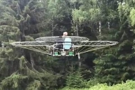 드론 76개 이어 만든 '사제 헬리콥터' 등장 (영상)