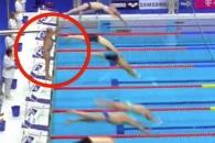1분 동안 출발하지 않은 수영선수…이유는?