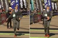 양복 입고 마라톤 완주…호주 변호사 세계 신기록 세워