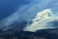 [지구를 보다] 국제우주정거장에서 포착된 캘리포니아 산불