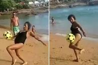 67세 맞아?…어느 브라질 할머니의 놀라운 축구 묘기