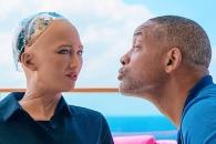 AI 로봇 '소피아'에게 아재 개그 던진 윌 스미스