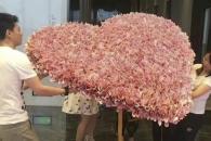 [여기는 중국] 현금 5646만원으로 만든 '초대형 부케' 선물한 남친
