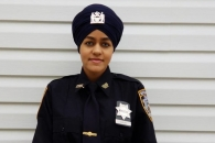 인도계 시크교도, 터번 쓴 첫 여성 뉴욕경찰 되다