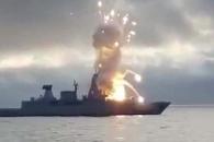 獨 군함서 훈련 중 발사한 미사일 곧바로 폭발 (영상)