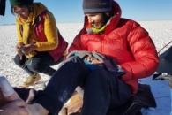 [장애를 넘다] 佛시각장애인, 홀로 140km 걸어 우유니 소금사막 횡단