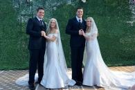 쌍둥이 형제와 사랑에 빠진 쌍둥이 자매의 합동결혼식