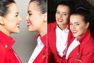 같은 항공사, 같은 기내서 일하는 쌍둥이 승무원 화제