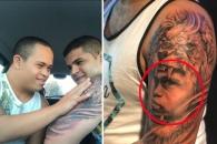 다운증후군 동생 얼굴을 자신의 팔에 새긴 형 (영상)