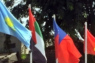 자카르타 아시안게임 준비 현장에 대만국기 등장…중국 '발끈'
