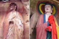 """[여기는 중국] 엉터리로 복원된 1000년 불상 논란…""""제2의 원숭이 예수"""""""