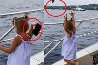 """""""아빠, 전화 좀 그만해"""" 바다에 폰 집어던진 4살 딸 (영상)"""