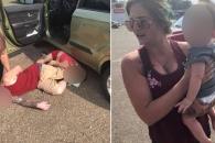 마약중독 부모 탓에 뜨거운 차에 방치된 아이 구출한 커플