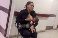 [월드피플+] 울고 있는 생면부지 아이에 모유 준 '영웅 경찰'