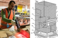아마존의 기괴한 특허…닭장같은 케이지서 근무하는 직원