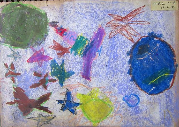 50년 전, 韓 초등 1학년생이 그린 추억의 '아폴로 11호'